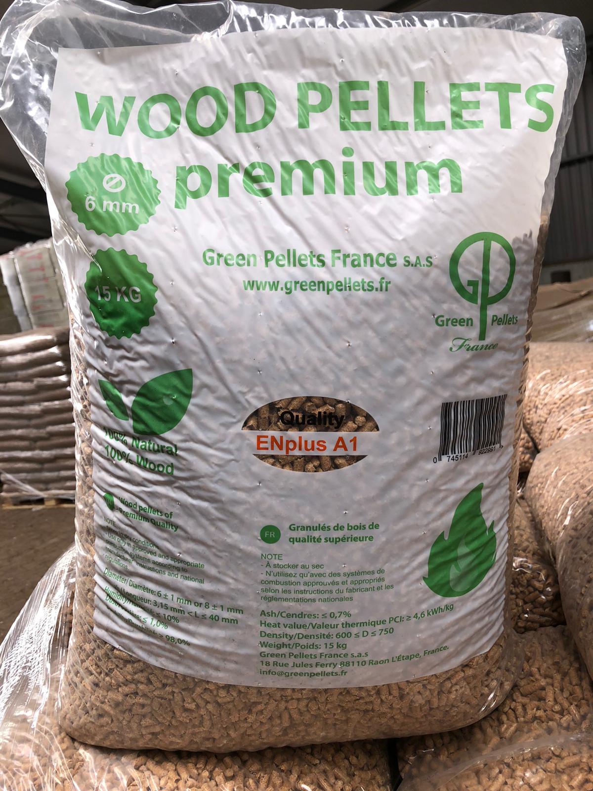 green pellets houtpellets zak 15 kilo